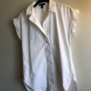 J Crew White cotton bottom down tunic